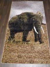 Modern Approx 5x2ft6 80cmx150cm Woven Top Quality Elephant Beiges Rugs/Mats